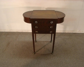 Early 1900's Solid Quartersawn Oak Sewing Stand