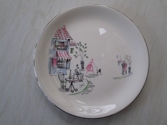 & Alfred Meakin 9 inch small dinner plate in the Montmartre