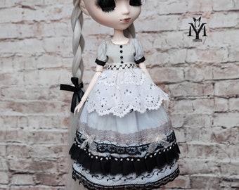 """Pullip dress. Apron. Blythe dress """"Haze"""""""