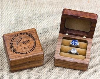 Wedding Ring Box, Custom Wood Ring Box, Engagement Ring Box, Ring Bearer Ring Box, Ring Box Holder, Proposal Ring Box, Custom Ring Box