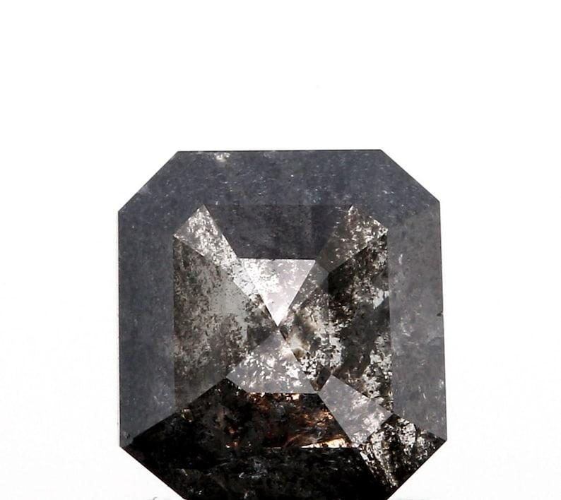1.02ct Radiant Rose Cut Salt and Pepper Diamond