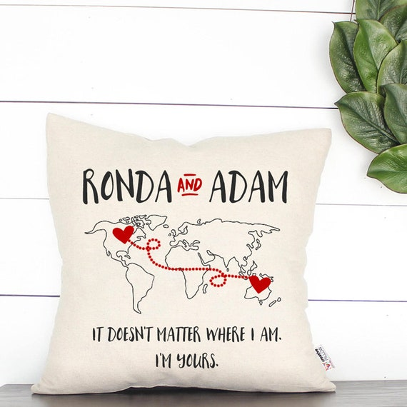 Long Distance Relationship Pillow.Personalized Long Distance Relationship Pillow Long Distance Love Long Distance Boyfriend Long Distance Girlfriend Gift For Boyfriend Custom