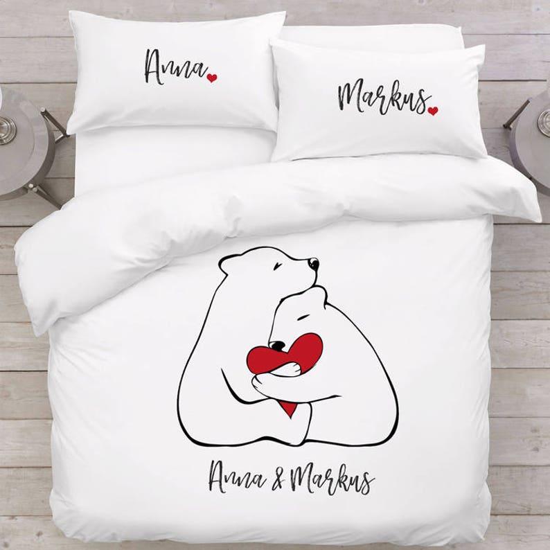 Liebe Bären Geschenk Bär Bettwäsche Paare Liebesgeschenk Etsy