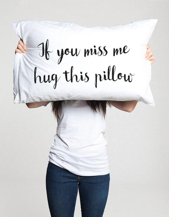 Long Distance Relationship Gift Pillow Case Boyfriend Love Etsy