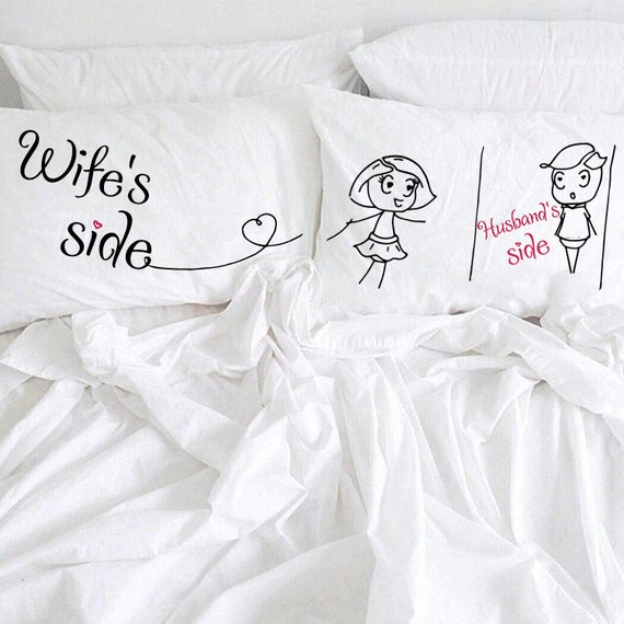 Couple pillowcases Wife and Husband