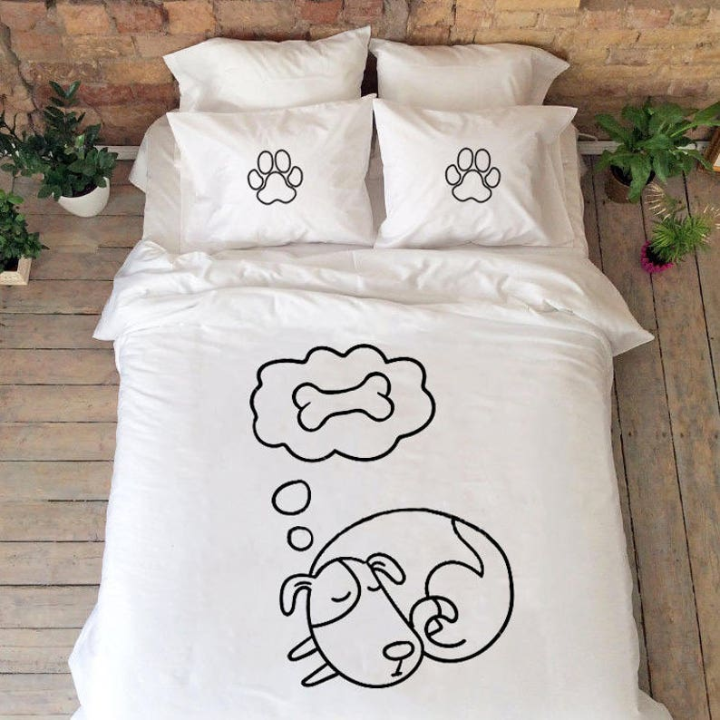 Dog Lover Gift Dog Lover Bedding Gift With Dogs Couples Bedding Cute Gifts Funny Bedding Bedroom Interior Dogs Duvet Cover Animal Lover Gift