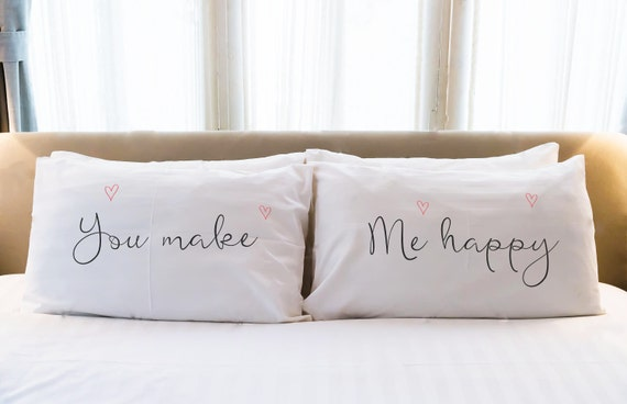 Couples Pillow Cases Gifts His Hers