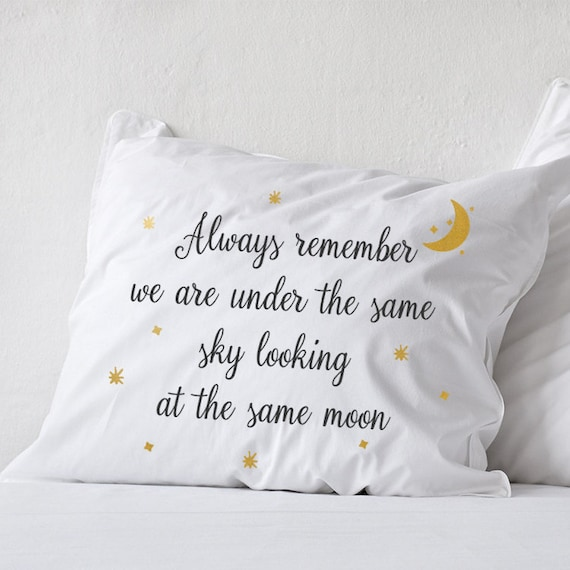 Long Distance Relationship Pillow.Long Distance Relationship Pillow Boyfriend Love Gift Friendship Friend I Miss You Gifts Ldr Always Remember Same Sky Anniversary Gift