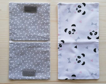 Panda Themed bag (white background)
