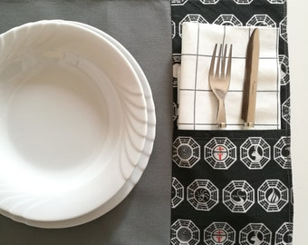 Set two Lost themed placemats, the TV series