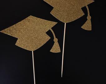 Graduation Caps Centerpieces