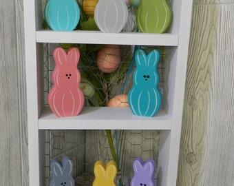 Easter Peeps-Marshmellow Bunnies-Spring Decor--Bunnies-Personalized Easter Peeps-Easter-- Spring--Personalized