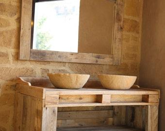 meubles de salle de bains avec palette en bois recyclage. Black Bedroom Furniture Sets. Home Design Ideas