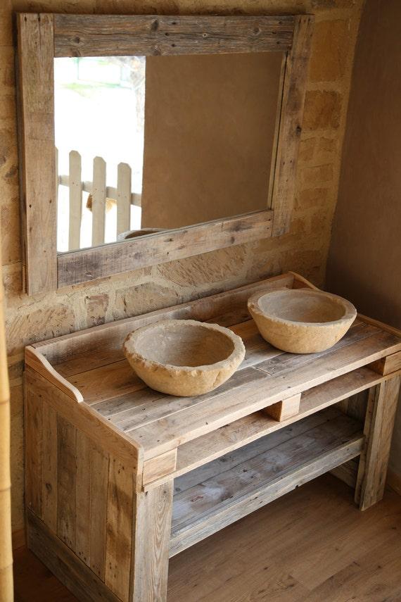 mueble de ba o hecho con madera de palet reciclada con lavabos On confeccionamos muebles de bano en palet