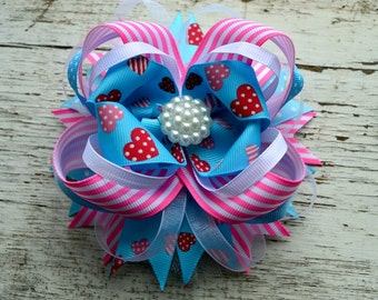Big Hair Bows for Girls Stacked Hair Bows for Teens Large Hair Bows Girls Hair Accessories Hairbows Bow Boutique