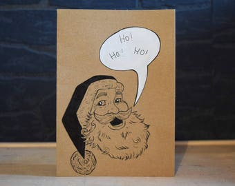 Handmade Christmas Card, Santa Claus.