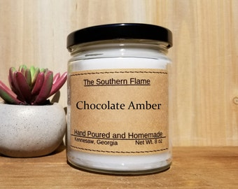 Mens easter gift etsy chocolate amber scented candle candles for men rich scent scented candle 8 negle Images