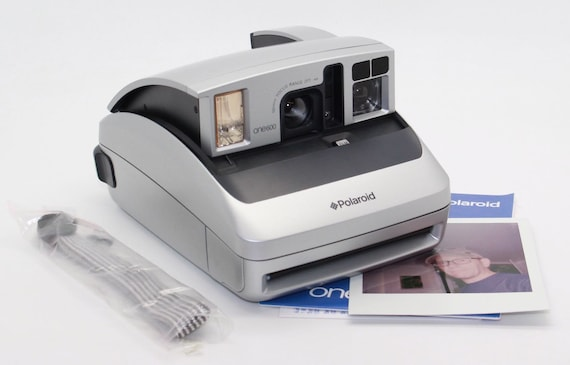 polaroid one600 ultra silver instant camera with manual and etsy rh etsy com Old Instant Digital Camera Old Instant Digital Camera