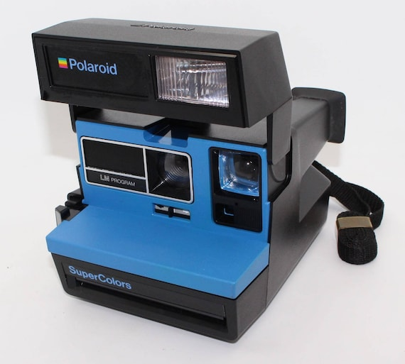 polaroid supercolors blue instant camera with box manual etsy rh etsy com Polaroid Instant Print Camera Case Polaroid Instant Print Camera Case
