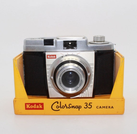 kodak colorsnap 35 model 1 camera with filter original box etsy rh etsy com Pictures Taken with Kodak 35 Pictures Taken with Kodak 35
