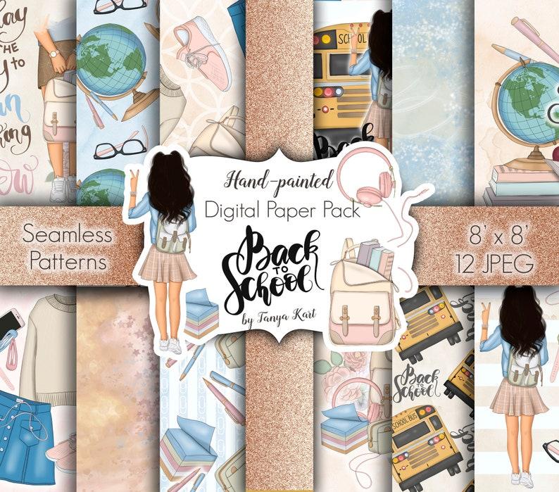 Back To School Paper-Surface Pattern-School Digital image 0