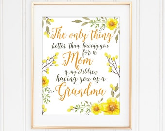 Mothers Day Gift Mothers Day Quote Printable Yellow Floral Art Print Home Decor Instant Download Wall Art Mothers Day Pink
