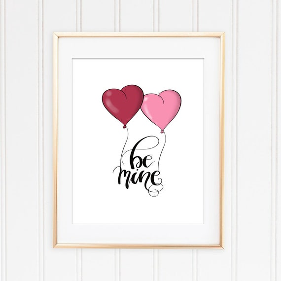 Be Mine Printable Quotes On Love Valentines Day Print Etsy New Valentines Day Pictures With Quotes