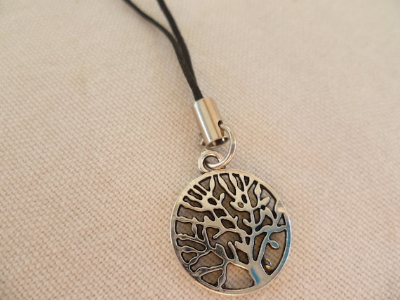 tree of life phone charm,cell phone charm,tree of life,mobile phone charm,gift,wiccan phone charm,pagan ,handmade,mobile accessory