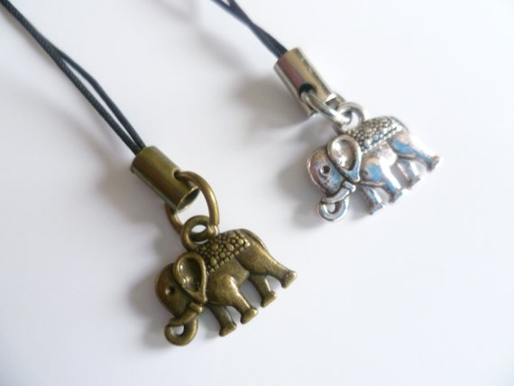 Elephant phone charm,mobile accessory,cell phone charm,phone accessory,gift,elephant charm,cell phone accessory,mobile lanyard,
