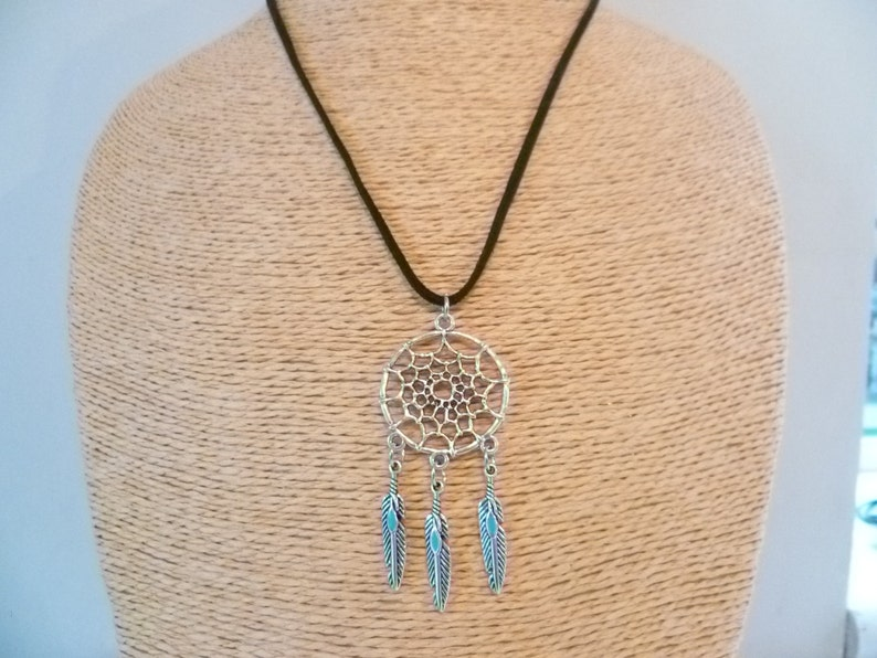 silver necklace,dream catcher jewellery,gift,boho jewelry,southwestern,native american necklace,pendant,feather Dream catcher necklace
