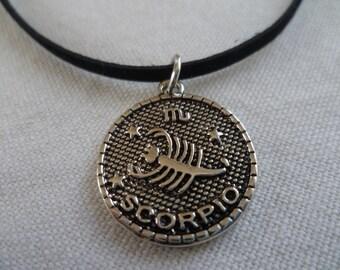 Scorpio choker,zodiac jewelry,personalised,black choker,gift,zodiac necklace,star sign,zodiac choker,birthday gift,stars,astrology,scorpion