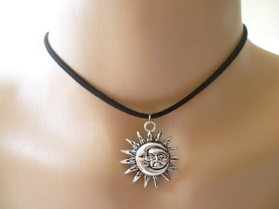Sun Pagan Wiccan Silver Plated Choker Comes With Free Gift Bag