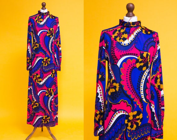 Magical 1970's psychedelic bishop sleeves maxi dre