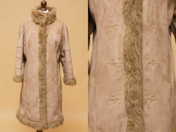 The most GORGEOUS 1960s afghan inspired vegan coat
