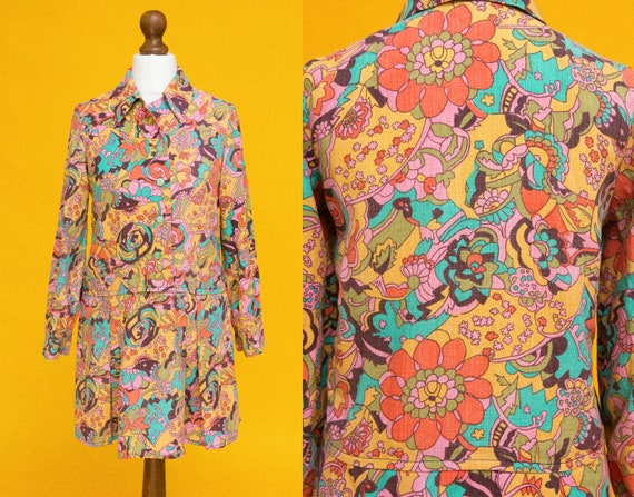 PSYCH OUT 1960s 1970s rainbow dress featuring the
