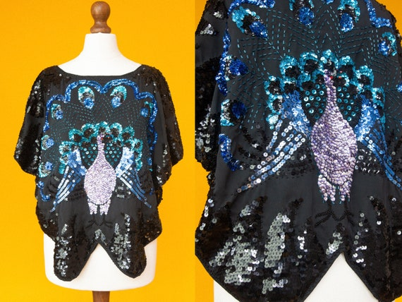 Insane beautiful 70s sequin top. STUDIO 54 vibes