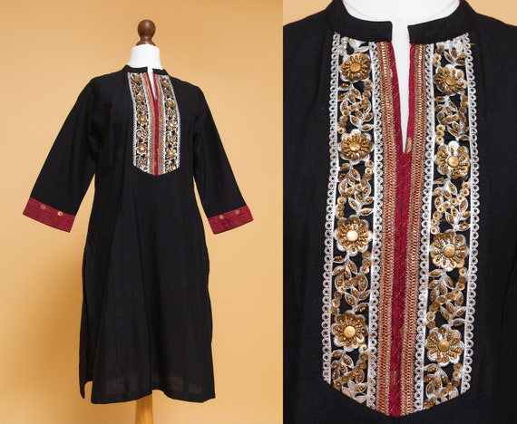 Beautiful embellished 70s style ethnic BIBA hippie