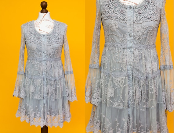 Beautiful victorian style lace dress with floral e