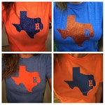 Houston Astros Inspired Soft Semi-fitted Adult T-Shirt Assorted Colors