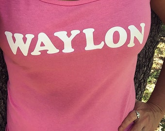 Waylon Jennings Custom SoftStyle Junior Fit Tank Top