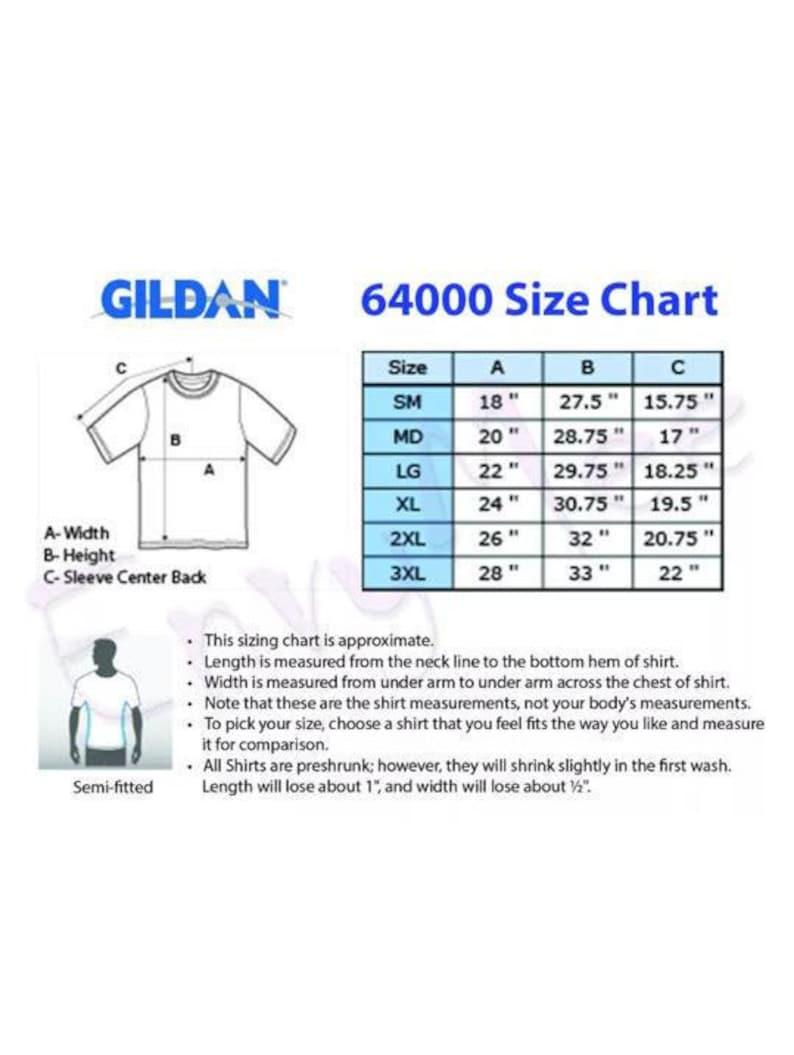 Gildan Softstyle T Shirt Size Chart