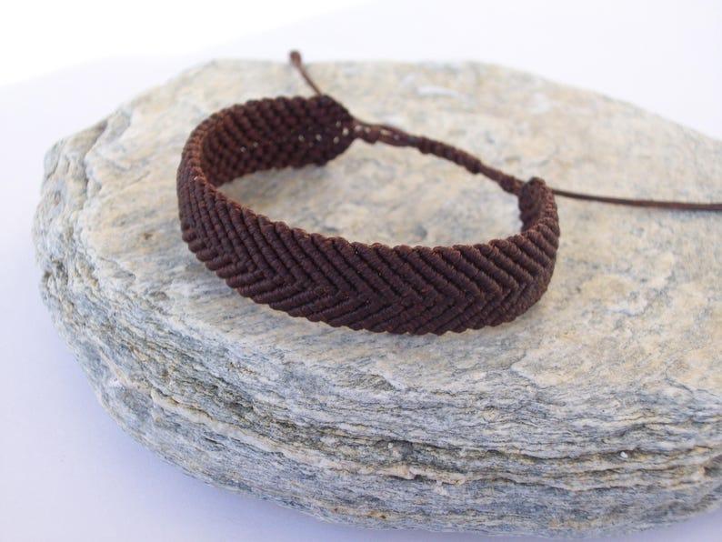 unisex brown bangle mens brown bracelet couples bracelet adjustable waterproof Mens fishbone bracelet