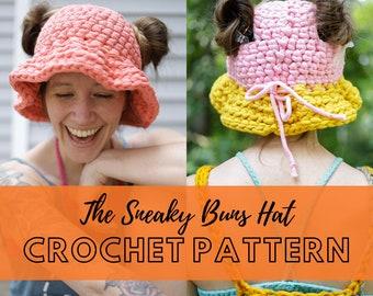 Super Simple Crochet Bucket hat Pattern   Beginner Friendly Easy Crochet Hat Pattern   Sneaky Buns Bucket Hat