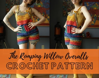Simple Chunky Crochet Overalls Pattern   Beginner Friendly Crochet Coveralls   Dungarees Crochet Pattern   Romping Willow Overalls