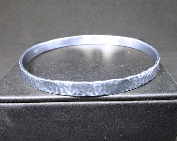 BR-046 silver Bracelet 925 hammered free shipping