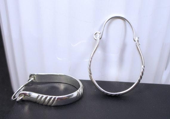 BO-167 shape 925 Silver - free hoop earring