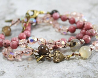 Sacred Heart of Jesus Catholic Rosary Bracelet for Women - Rosary Wrap Hand Knotted Beads - Confirmation Gift for Her - Christian Gift
