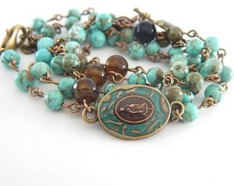 Catholic Rosary Bracelet - Wrap Bracelet or Necklace - Catholic Jewelry Gift for Women - Our Lady of Guadalupe