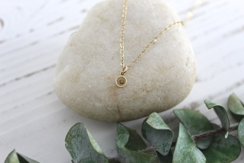 Mustard Seed Necklace  Gold Choker  Silver Christian Gold