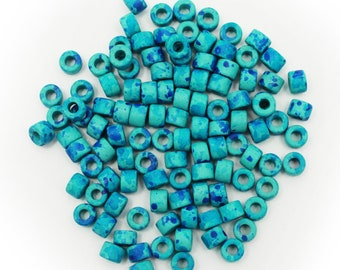 ceramic tubes ceramic tubes copper patina 28 mm ceramic beads long tubes copper greek beads long spacer beads mykonos beads